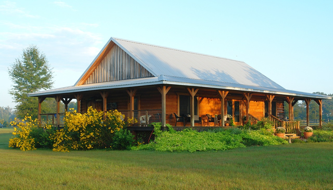 Dřevná chata venkov