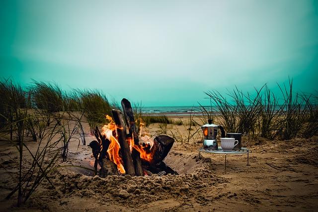 oheň u moře