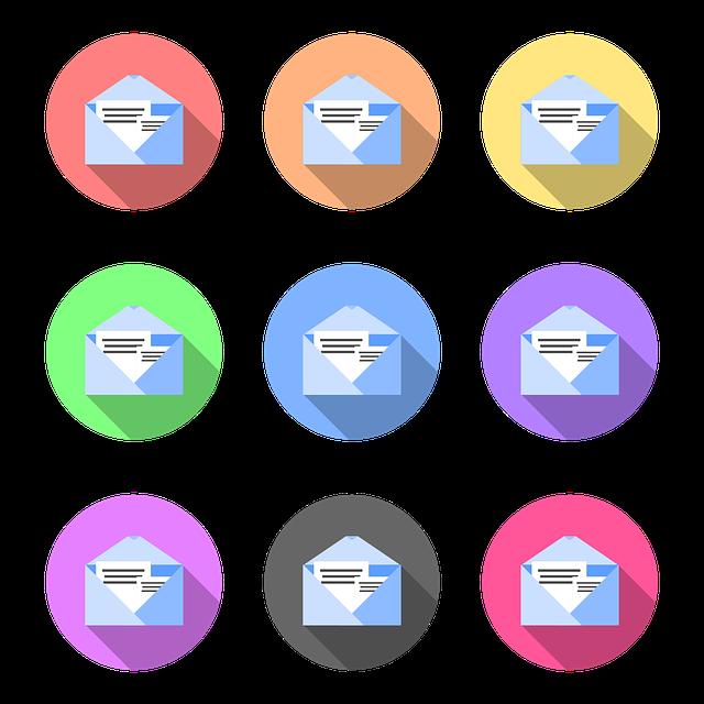 e mailové obálky