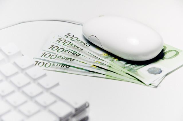 euro bankovky pod bílou myší.jpg